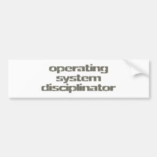 operating system disciplinator pegatina para auto
