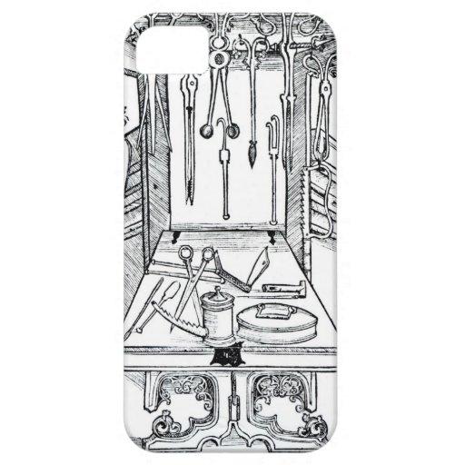 Operating table and surgical instruments, from 'Da iPhone 5 Case
