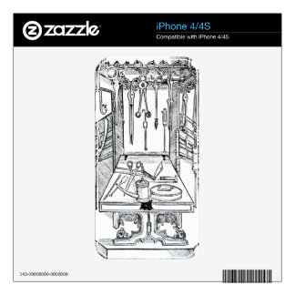 Operating table and surgical instruments, from 'Da iPhone 4 Decal