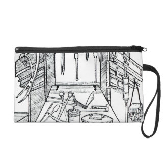 Operating table and surgical instruments, from 'Da Wristlet