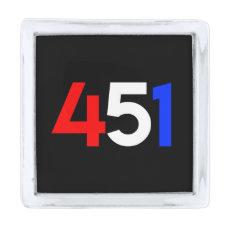 Operation 451 square lapel pin