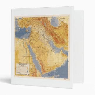 Operation Desert Storm Planning Map (1991) 3 Ring Binder