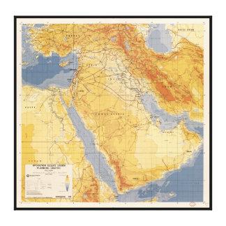 Operation Desert Storm Planning Map (1991) Canvas Print
