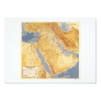 Operation Desert Storm Planning Map (1991) Card