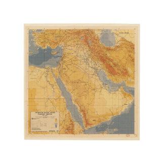 Operation Desert Storm Planning Map (1991) Wood Wall Art