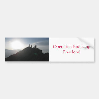 Operation Enduring Freedom! Bumper Sticker