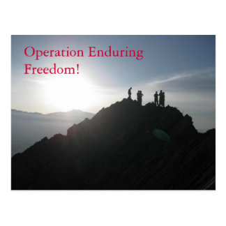 Operation Enduring Freedom! Postcard