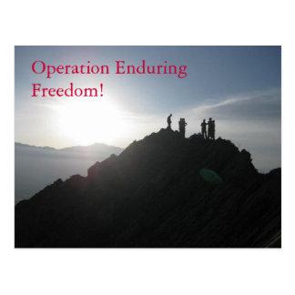 Operation Enduring Freedom! Postcard