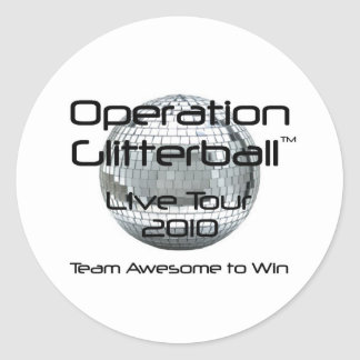 Operation Glitterball: The Live Tour Stickers