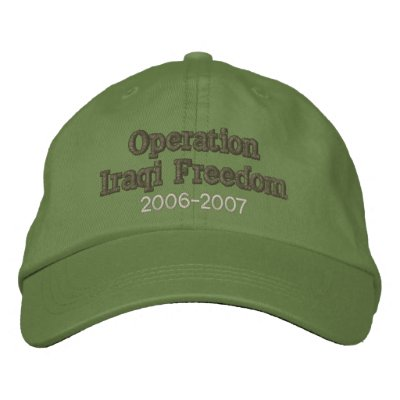 Operation Iraqi Freedom Embroidered Hats