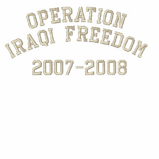 Operation Iraqi Freedom Military Embroidered Polo Shirt