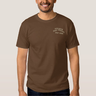 Operation Iraqi Freedom Military Embroidered T-Shirt