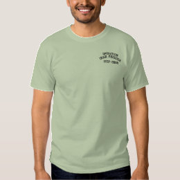 Operation Iraqi Freedom Military OIF Embroidered T-Shirt