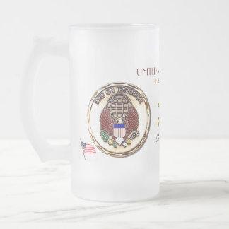 Operation Iraqi Freedom-USA Frosted Glass Beer Mug
