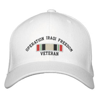 Operation Iraqi Freedom Veteran Embroidered Baseball Hat