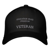 OPERATION IRAQI FREEDOM, VETERAN EMBROIDERED BASEBALL HAT