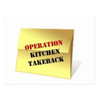 Operation Kitchen Takeback Postcard