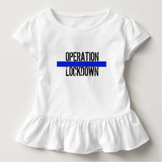 """OPERATION LOCKDOWN Toddler """"Flower Girl"""" Ruffle T Toddler T-shirt"""