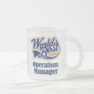 Operation Manager Gift 10 Oz Frosted Glass Coffee Mug