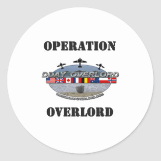 Operation Overlord 1944 Classic Round Sticker