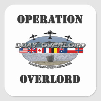 Operation Overlord 1944 Square Sticker