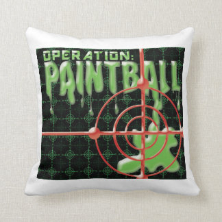 Operation Paintball Throw Pillow