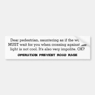 Operation Prevent Road Rage Sticker #4