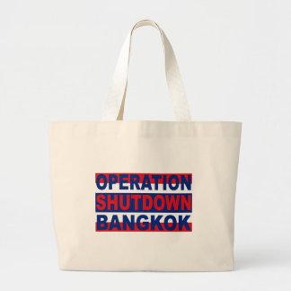 Operation shutdown Bangkok Large Tote Bag
