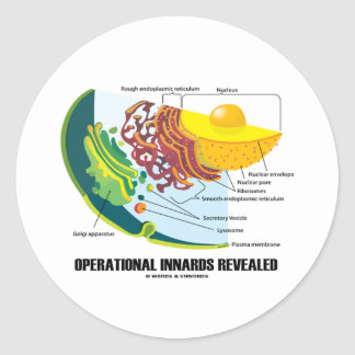 Operational Innards Revealed (Cell Biology) Classic Round Sticker