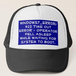 Operator asleep error code trucker hat