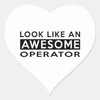 OPERATOR DESIGNS HEART STICKER