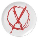 Operator Symbol Melamine Plate