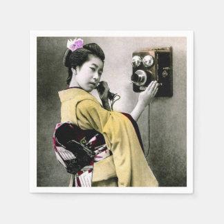 Operator Wont You Help Me Make This Call Geisha Napkin