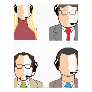 Operators with headsets letterhead