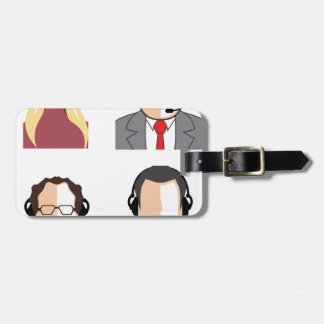 Operators with headsets luggage tag