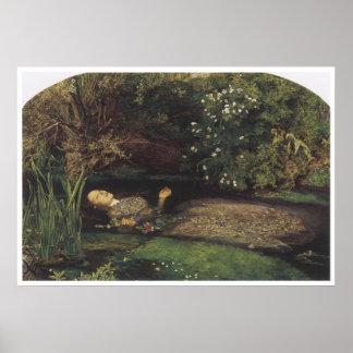 Ophelia, 1852, John Everett Millais Print