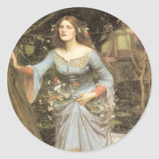 Ophelia (1905) classic round sticker