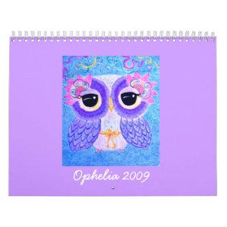 Ophelia 2009 calendar