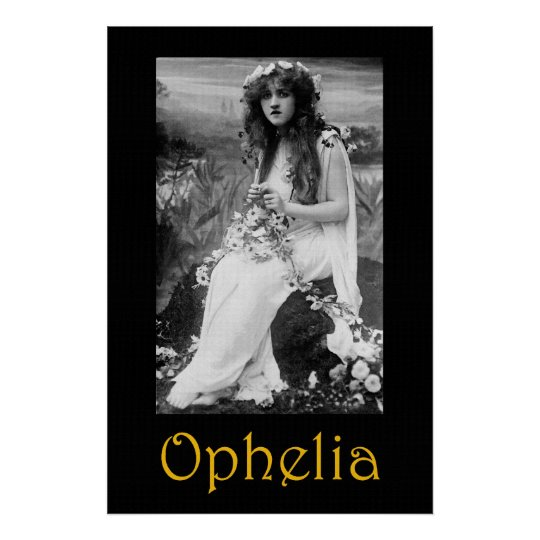 ophelia 36 x 24 poster zazzle. Black Bedroom Furniture Sets. Home Design Ideas