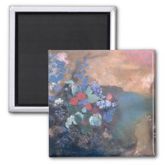 Ophelia among the Flowers, c.1905-8 2 Inch Square Magnet
