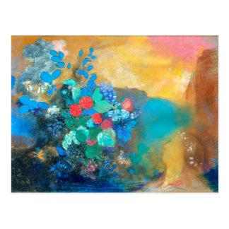 Ophelia Among the Flowers | Odilon Redon Postcard