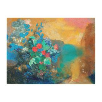 Ophelia Among the Flowers | Odilon Redon Wood Wall Decor