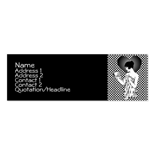 Ophelia and Yorick Checkered Profile Cards Business Cards
