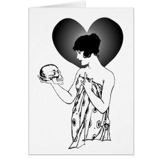 Ophelia and Yorick Greeting Card