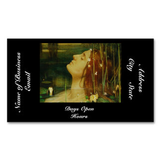 Ophelia Asleep Among Flowers Magnetic Business Cards (Pack Of 25)