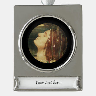 Ophelia Asleep Among the Flowers Silver Plated Banner Ornament
