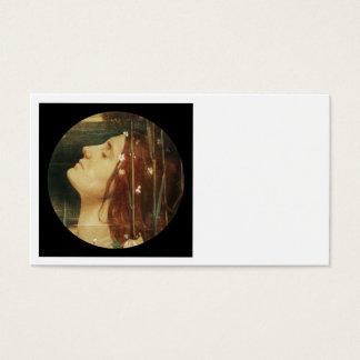 Ophelia Asleep in Flowers Business Card
