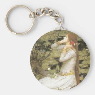 Ophelia Basic Round Button Keychain