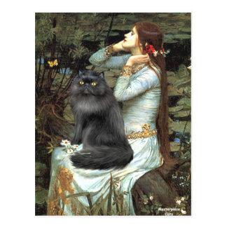 Ophelia - black Persian cat Postcard
