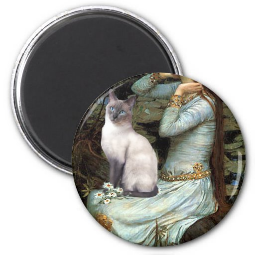 Ophelia - Blue Point Siamese cat 2 Inch Round Magnet